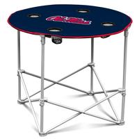 NAVY CANVAS ROUND TABLE