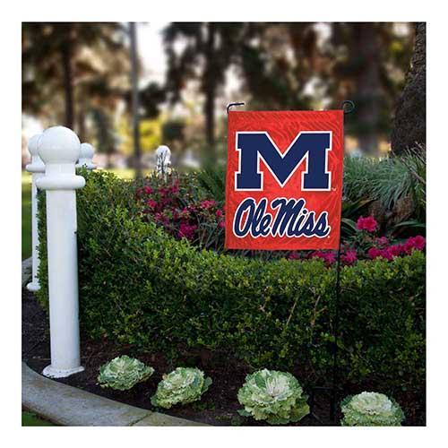 Red M Ole Miss Garden Flag