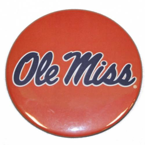 Red Script Ole Miss Button