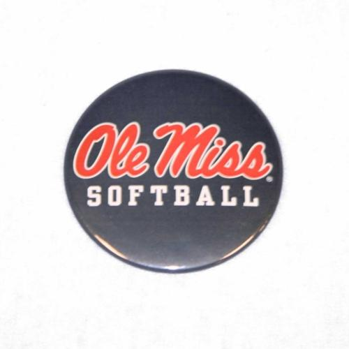 Navy Ole Miss Softball Button