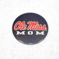 NAVY OLE MISS MOM BUTTON