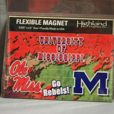 Ole Miss Flexible Magnet