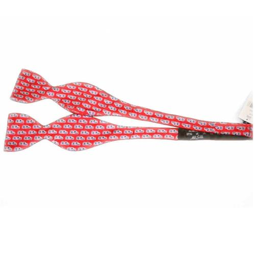 Red Ole Miss Silk Bow Tie
