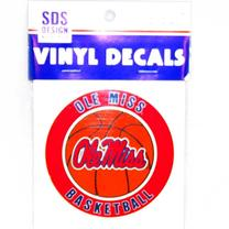 3IN OLE MISS BASKETBALL VINYL