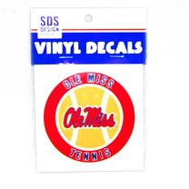 3IN OLE MISS TENNIS VINYL DECA