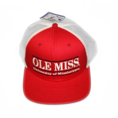 Red Ole Miss Snapback Game Bar