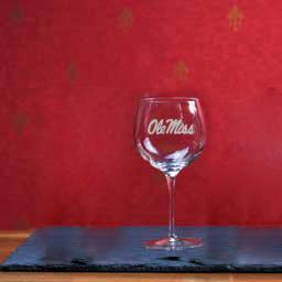 18oz Ole Miss Wine Glass