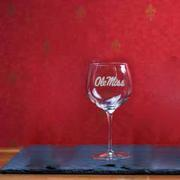 18OZ OLE MISS WINE GLASS