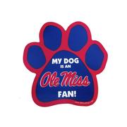 OLE MISS PAW CAR MAGNET