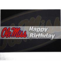 BROWN GRAY OLE MISS BIRTHDAY C