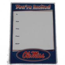 10PK OLE MISS INVITATIONS AND