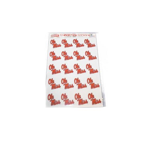 Sticker Sheet Sm Ole Miss 20ct