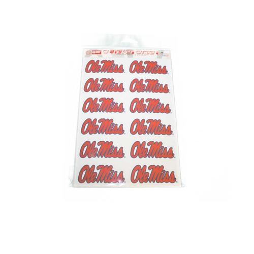 Sticker Sheet Lg Ole Miss 12ct